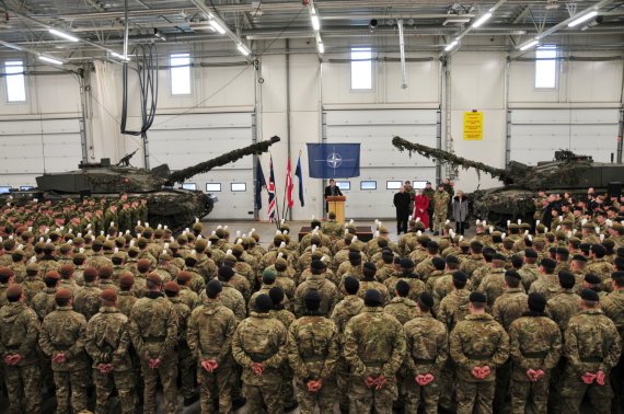 """""""Reuters""""/""""Scanpix"""" nuotr./Britų kariai Estijoje"""