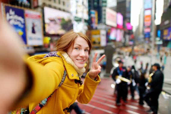 123rf.com nuotr./Turistė Niujorke