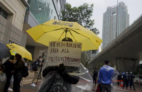 """Scanpix""/AP nuotr./Protestuotojas Honkonge"
