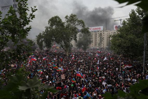 """""""Reuters""""/""""Scanpix"""" nuotr./Neramumai Čilėje"""