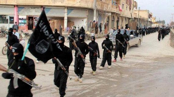 """""""Scanpix""""/AP nuotr./""""Islamo valstybės"""" kovotojai Sirijoje"""