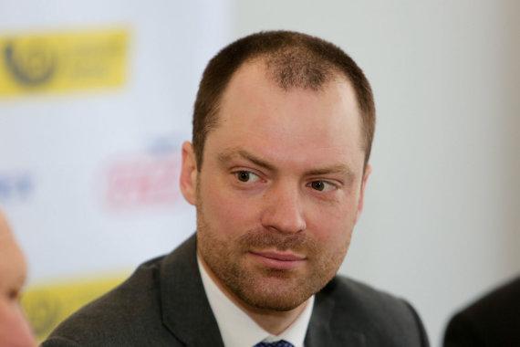 Juliaus Kalinsko / 15min nuotr./Lietuvos regbio federacijos (LRF) prezidentas Rytis Davidovičius