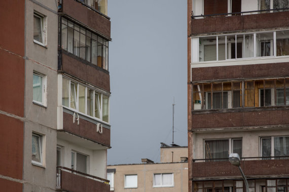Žygimanto Gedvilos / 15min nuotr./Seni daugiabučių balkonai