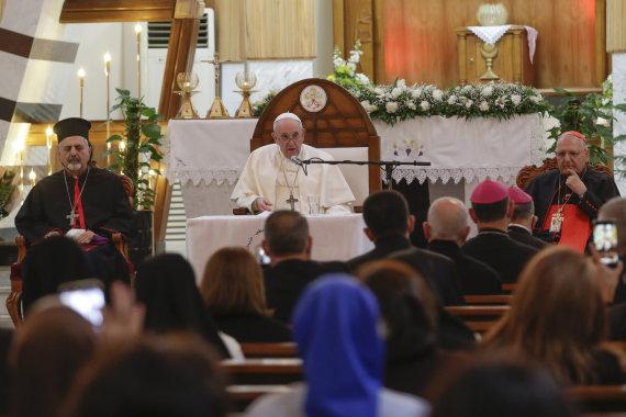 """""""Scanpix""""/AP nuotr./Popiežius Pranciškus Irake"""