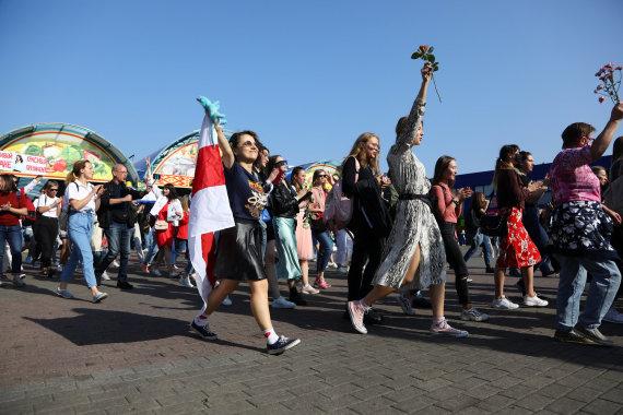"""""""Reuters""""/""""Scanpix"""" nuotr./Protestai Baltarusijoje"""
