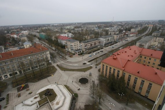 """Alvydo Januševičiaus nuotr./Šiaulių panorama nuo """"Šiaulių"""" viešbučio stogo"""