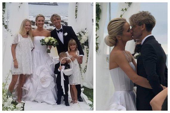 Socialinių tinklų nuotr./Editos Daniūtės ir Mirko Gozzoli vestuvės