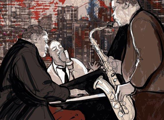 123RF.com nuotr./Džiazo muzikantai