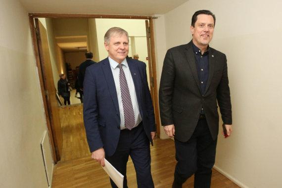Vidmanto Balkūno / 15min nuotr./Vytautas Juozapaitis ir Edmundas Pupinis