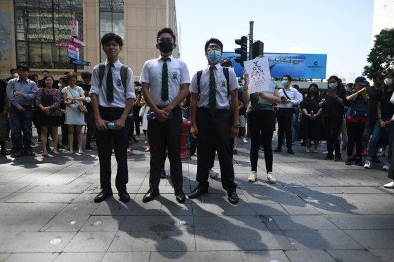 "AFP/""Scanpix"" nuotr./Jaunimo protestas Honkonge"