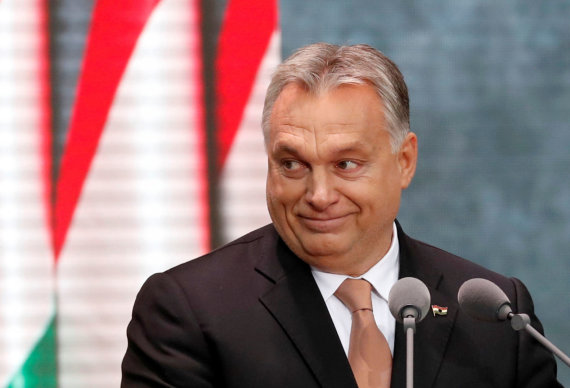 """""""Reuters""""/""""Scanpix"""" nuotr./Vengrijos premjeras Viktoras Orbanas"""