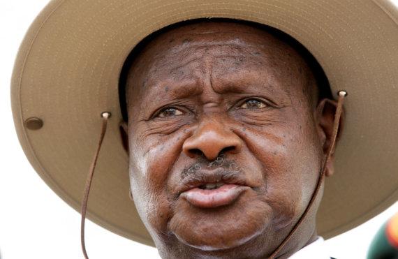 """Reuters""/""Scanpix"" nuotr./Ugandos prezidentas Yoweri Museveni"