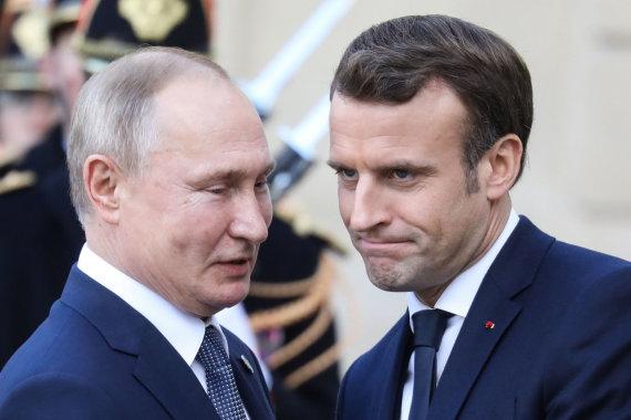 "AFP/""Scanpix"" nuotr./Vladimiras Putinas ir Emmanuelis Macronas"