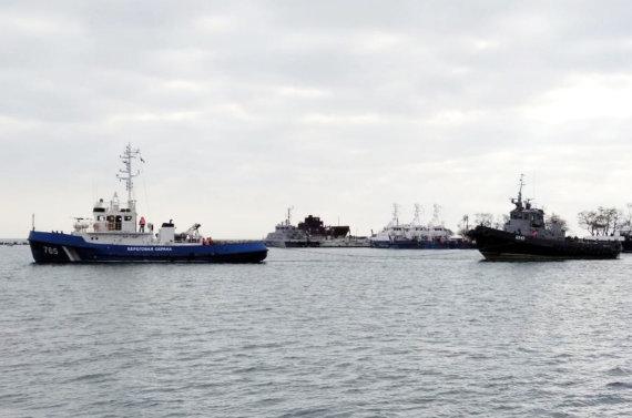 """""""Scanpix"""" nuotr./Rusijos pernai perimti ir ką tik Ukrainai grąžinti laivai"""