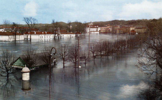 simtmeciospalvos.lt nuotr./Didysis Vilniaus potvynis 1931 m. (spalvota)