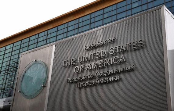 """""""Sputnik""""/""""Scanpix"""" nuotr./JAV ambasada Maskvoje"""