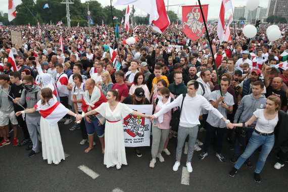"""Scanpix"" nuotr./Protestuotojai Minske"