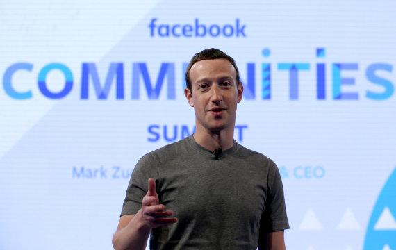 """""""Scanpix""""/AP nuotr./""""Facebook"""" vadovas Markas Zuckerbergas"""