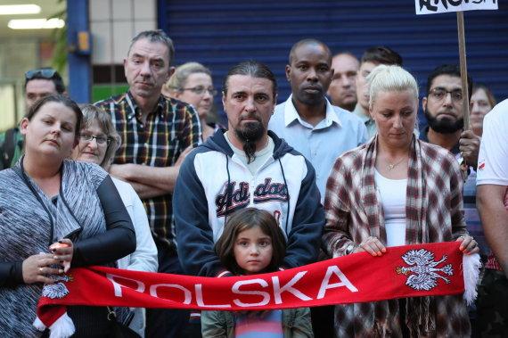 """""""Scanpix""""/""""PA Wire""""/""""Press Association Images"""" nuotr./Lenkų bendruomenė Jungtinėje Karalystėje po """"Brexit"""" referendumo tapo ksenofobinių atakų taikiniu"""