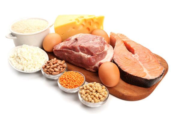 Fotolia nuotr./Maistas, kuriame gausu baltymų