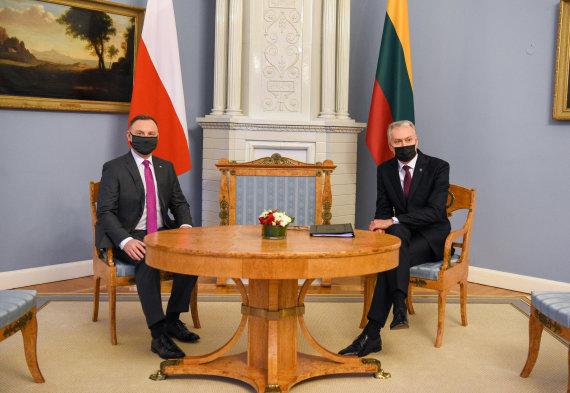 LR Prezidento kanceliarijos/R.Dačkaus nuotr./Andrzejus Duda, Gitanas Nausėda