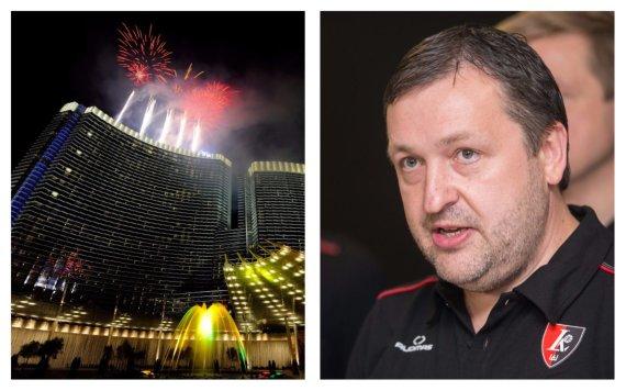 "AFP/""Scanpix"" nuotr./Las Vegaso ""Aria Resort & Casino"" komplekse A.Guoga išlošė per 300 tūkst. eurų."