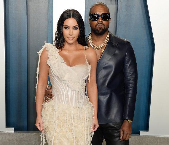 """Gilbert Flores""/""Broadimage Newswire"" nuotr./Kanye Westas, Kim Kardashian"