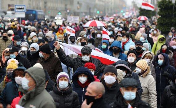 """AFP/""""Scanpix"""" nuotr./Protestai Baltarusijoje"""