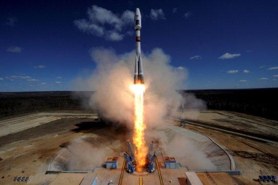 """""""Reuters""""/""""Scanpix"""" nuotr./Rusija paleido raketą iš naujojo kosmodromo"""