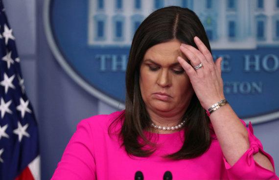 """""""Reuters""""/""""Scanpix"""" nuotr./Sarah Huckabee Sanders"""