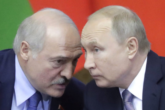 """Scanpix""/ITAR-TASS nuotr./Aliaksandras Lukašenka ir Vladimiras Putinas"