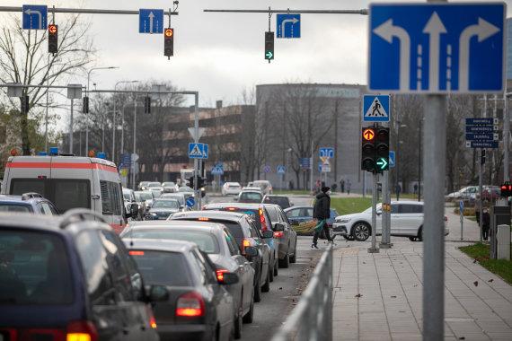 Juliaus Kalinsko / 15min nuotr./Apkasų, Žalgirio, Rinktinės gatvių sankryža.