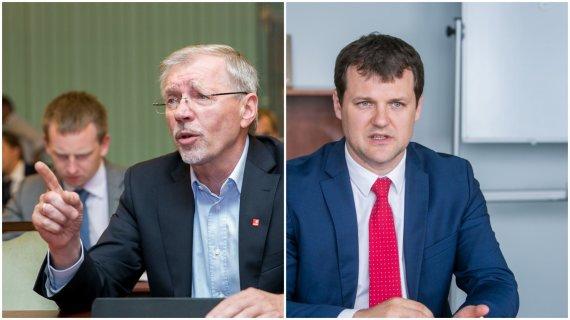 15min nuotr./Gediminas Kirkilas ir Gintautas Paluckas
