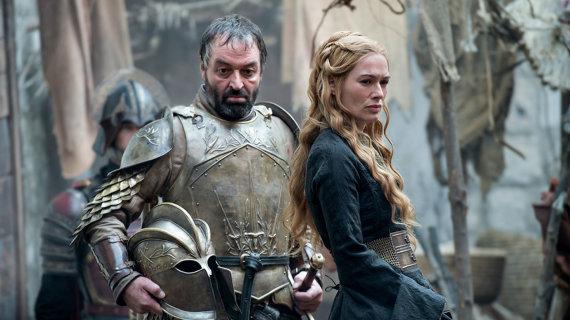 """HBO nuotr./Ianas Beattie ir Lena Headey seriale """"Sostų karai"""""""