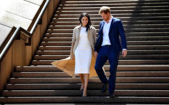 """AFP/""""Scanpix"""" nuotr./Princas Harry ir Sasekso hercogienė Meghan"""