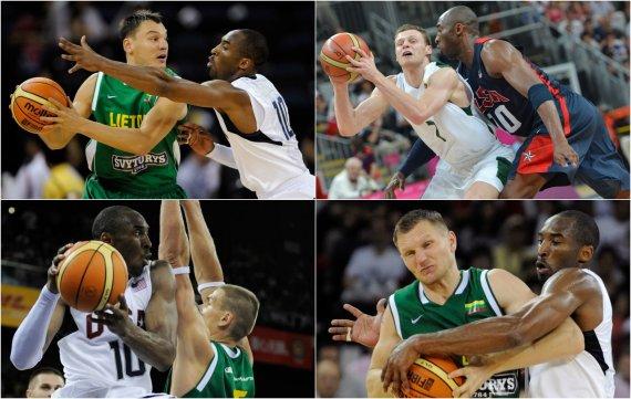 """""""Scanpix"""" nuotr./Lietuvos krepšininkai išlydi Kobe Bryantą"""