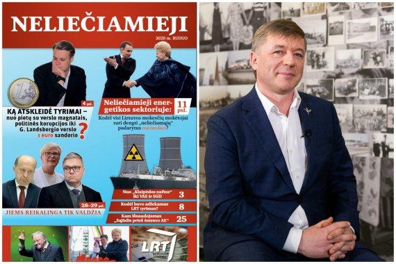 15min nuotr./LVŽS rinkiminis leidinys ir Ramūnas Karbauskis
