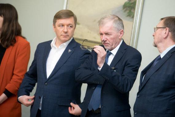 Juliaus Kalinsko / 15min nuotr./Ramūnas Karbauskis ir Gediminas Kirkilas