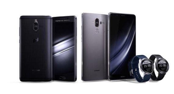 """Gamintojo nuotr./""""Huawei Mate 9"""" telefonai ir """"Huawei Fit"""" laikrodis"""