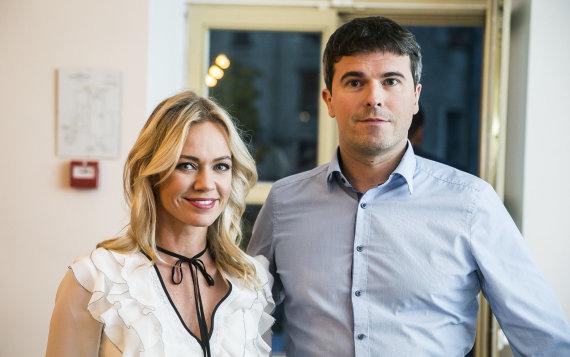 Viganto Ovadnevo/Žmonės.lt nuotr./Ingrida Martinkėnaitė ir Mindaugas Urbonas