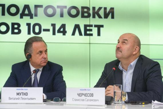 Sputnik/Vitalijus Mutko ir Stanislavas Čerčesovas