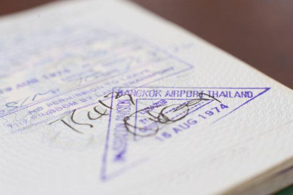 123rf.com /Bankoko oro uoste išduodama viza su antspaudu
