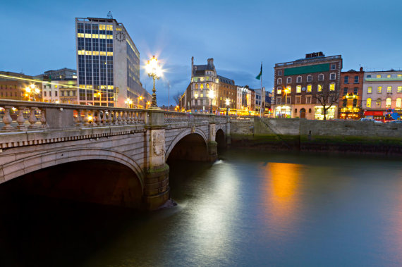 123rf.com/Airijos didvyrio Danielio O'Conelio vardo tiltas Dubline