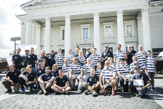 """Viganto Ovadnevo/Žmonės.lt nuotr./Išlydėtuvės į ekspediciją """"Nemunu per Lietuvą"""""""