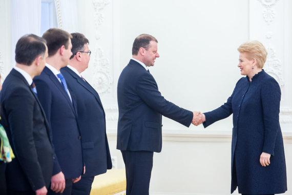 Luko Balandžio / 15min nuotr./Dalia Grybauskaitė ir Saulius Skvernelis