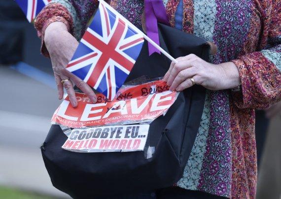 """""""Reuters""""/""""Scanpix"""" nuotr./Pasitraukimo iš ES šalininkai švenčia pergalę"""
