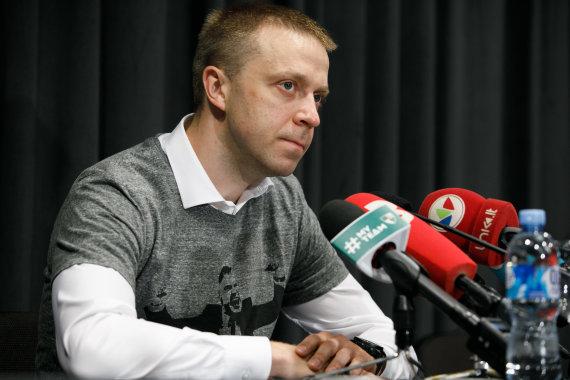 Eriko Ovčarenko / 15min nuotr./Pauliaus Motiejūno spaudos konferencija