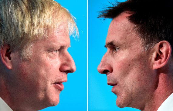 """Reuters""/""Scanpix"" nuotr./Borisas Johnsonas ir Jeremy Huntas"