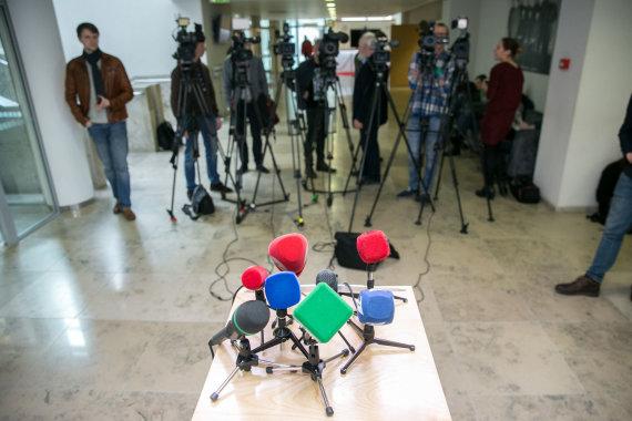 Žygimanto Gedvilos / 15min nuotr./Žiniasklaidos mikrofonai