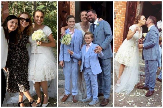 Socialinio tinklo nuotr./Liudviko Andriulio ir Medeinos Čijauskaitės vestuvės